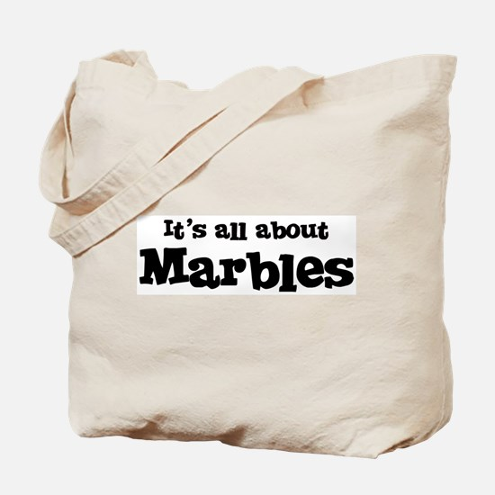 All about Marbles Tote Bag