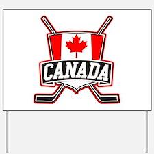 Canadian Hockey Shield Logo Yard Sign