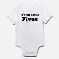 All about Fives Infant Bodysuit