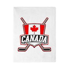 Canadian Hockey Shield Logo Twin Duvet