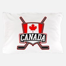Canadian Hockey Shield Logo Pillow Case
