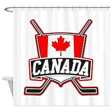 Canadian Hockey Shield Logo Shower Curtain
