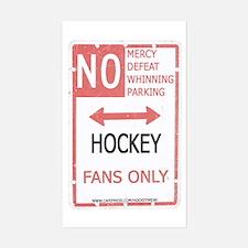 No Mercy Hockey Rectangle Decal