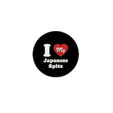 I Heart My Japanese Spitz Mini Button (100 pack)