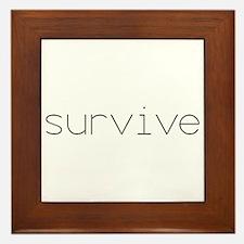 Survive Framed Tile