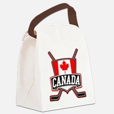 Canadian Hockey Shield Logo Canvas Lunch Bag