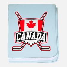 Canadian Hockey Shield Logo baby blanket
