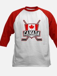 Canadian Hockey Shield Logo Baseball Jersey