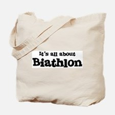 All about Biathlon Tote Bag