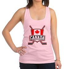 Canadian Hockey Shield Logo Racerback Tank Top