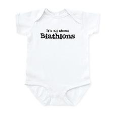 All about Biathlons Infant Bodysuit