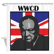 What Would Churchill Do? Shower Curtain