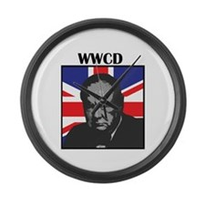 What Would Churchill Do? Large Wall Clock