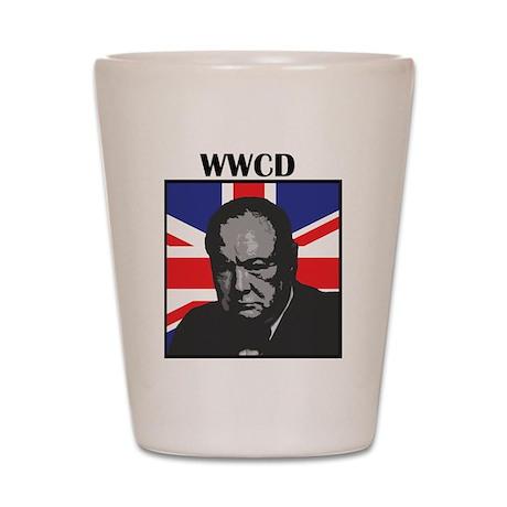 What Would Churchill Do? Shot Glass