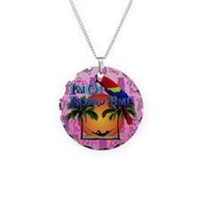 Island Time Pink Tiki Necklace