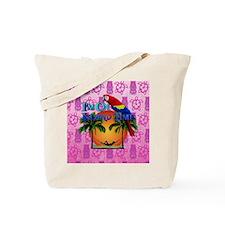 Island Time Pink Tiki Tote Bag