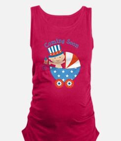 4th of July Patriotic Baby Maternity Tank Top