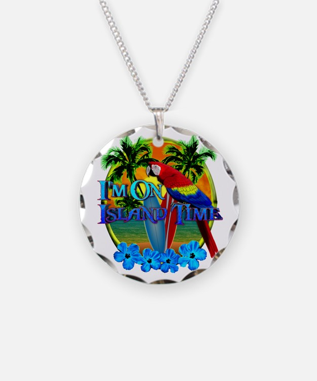 Island Time Surfing Necklace