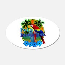 Island Time Surfing Wall Decal
