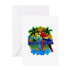 Island Time Surfing Greeting Card