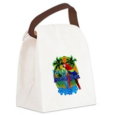 Island Time Surfing Canvas Lunch Bag