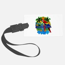 Island Time Surfing Luggage Tag