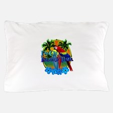 Island Time Surfing Pillow Case