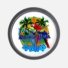 Island Time Surfing Wall Clock