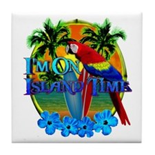 Island Time Surfing Tile Coaster