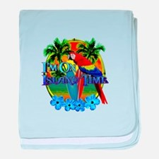 Island Time Surfing baby blanket