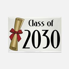 Class of 2030 Diploma Rectangle Magnet
