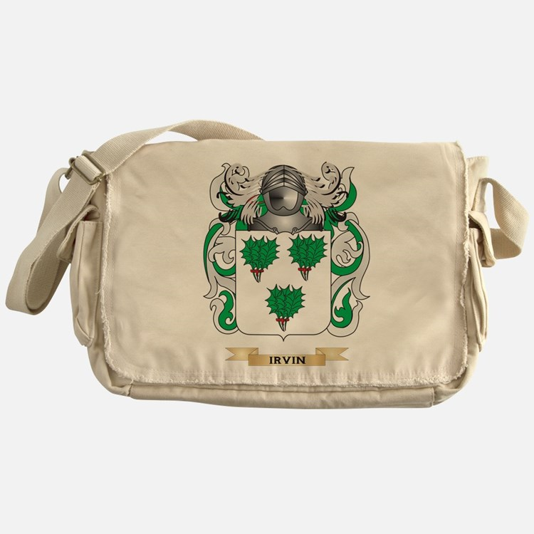 Irvin Coat of Arms (Family Crest) Messenger Bag