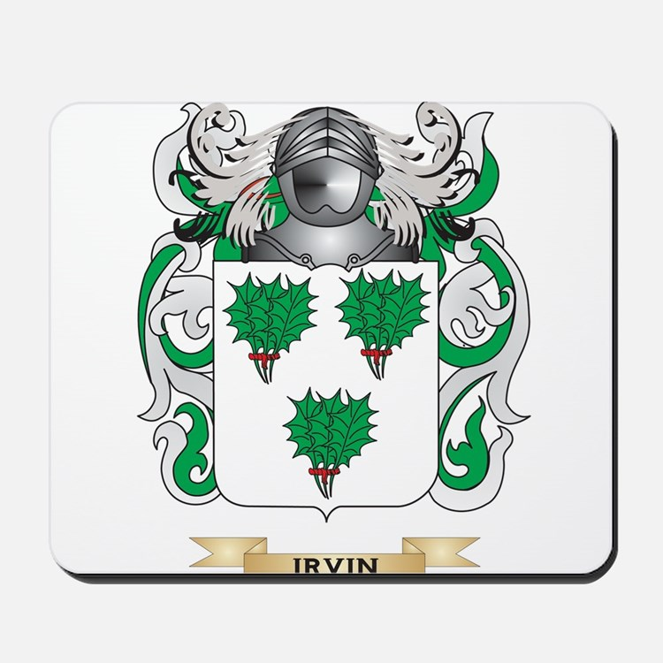 Irvin Coat of Arms (Family Crest) Mousepad
