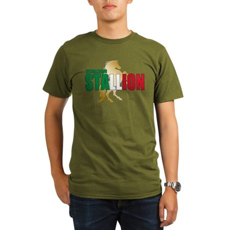 Italian Stallion Organic Men's T-Shirt (dark)