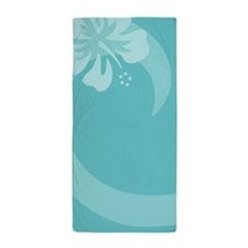 Hibiscus Aqua Beach Towel