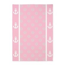 Lt Rose Pink Ship's Wheels 5'x7'Area Rug