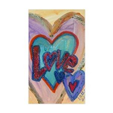 Love Family Hearts Decal