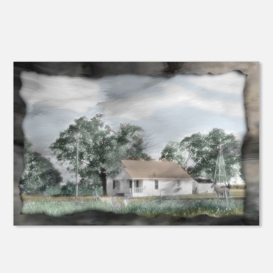 Rural Texas Farm House Postcards (Package of 8)