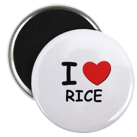 I love rice Magnet