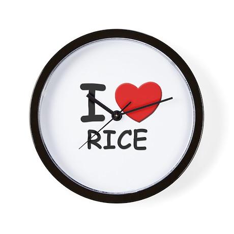 I love rice Wall Clock