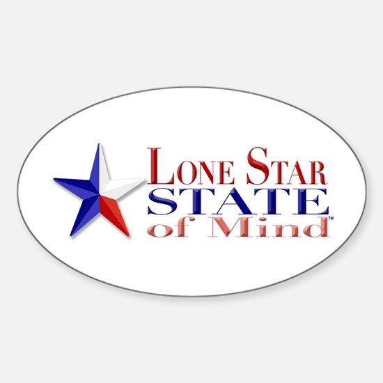 Lone Star State of Mind Oval Decal
