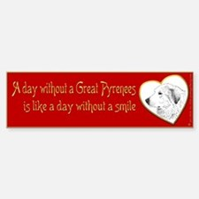 Bumper Sticker-A day without a Pyr, red