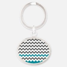 Teal Blue and Grey Keychains