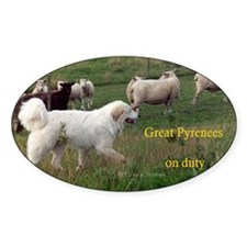 Great Pyr on Duty<br>Oval Decal
