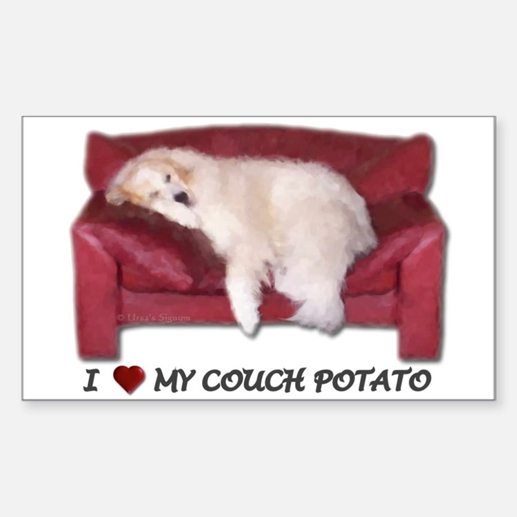 Love My Couchpotato Sticker(Rectang.)
