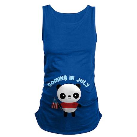 Coming In July America Panda Maternity Tank Top
