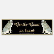 Great Pyrs Gentle Giants on Board Bumper Bumper Bumper Sticker