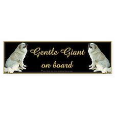 Great Pyrs Gentle Giants on Board Bumper Car Sticker