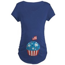 4th of July Independence Day Cupcake Maternity T-S
