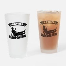Id RATHER be Crowd Surfing (male) Drinking Glass